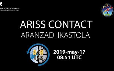 La ikastola Aranzadi de Bergara conectó con la ISS